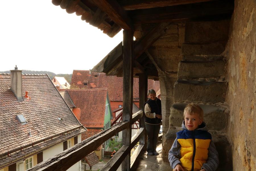 Rothenburg-ob-der-Tauber, на крепостной стене