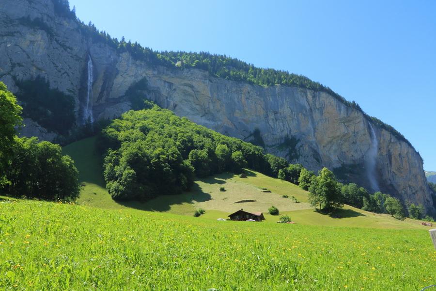 Staubbachfall и Spissbachfall, Lauterbrunnen