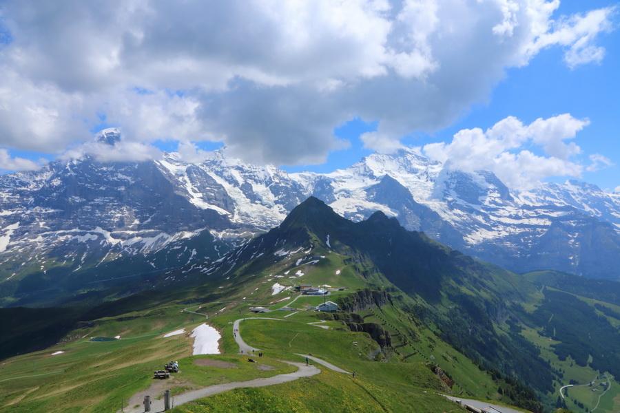 Jungfrau, Silberhorn, Lauberhorn с вершины Männlichen