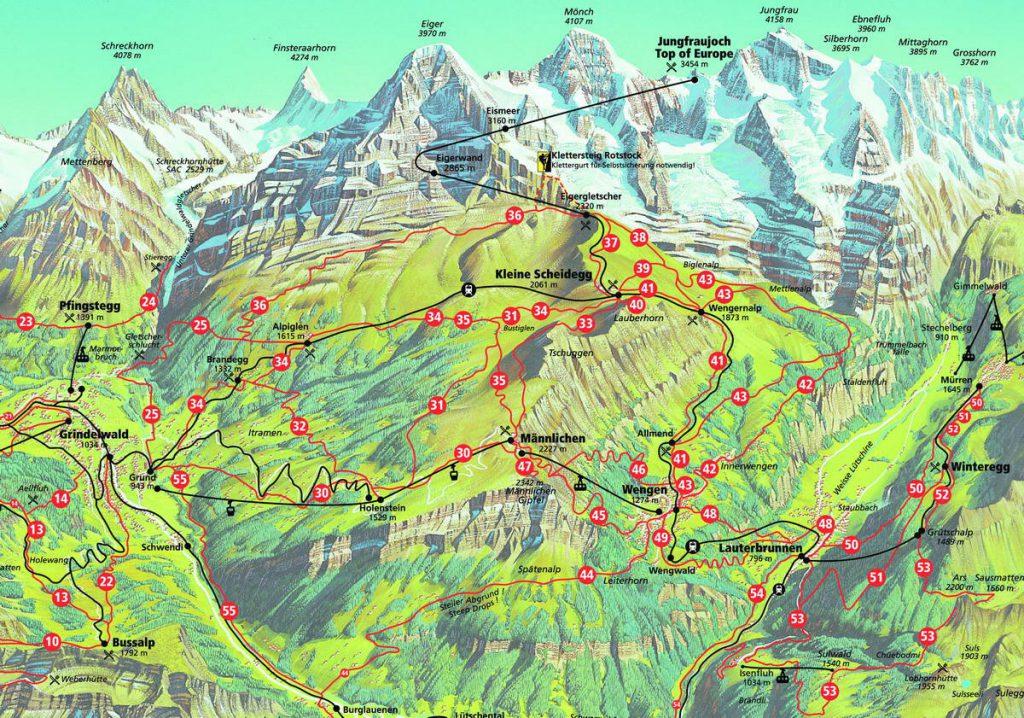Grindelwald Kleine Sheidegg hiking