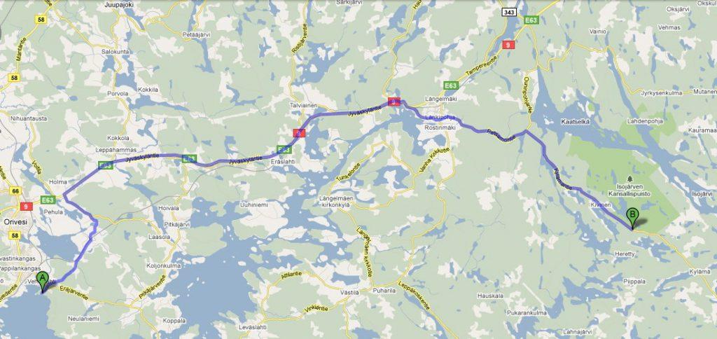 finland isojarvi route