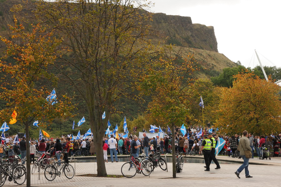 Эдинбург, митинг за отделение Шотландии от UK