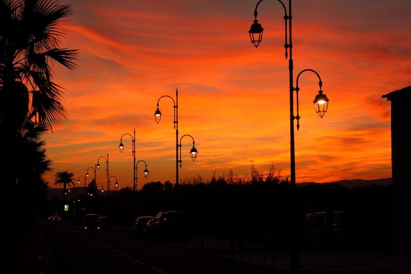 port grimaud sunset