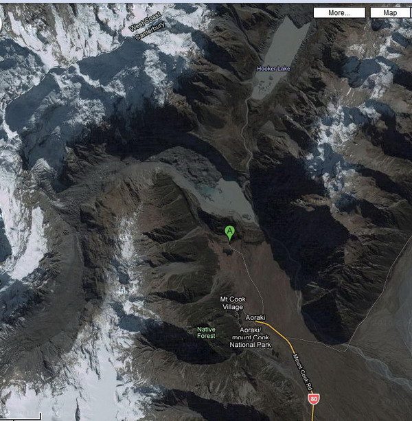 hooker valley map