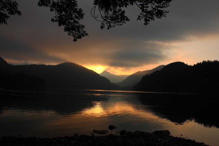 schwangau alpsee sunset