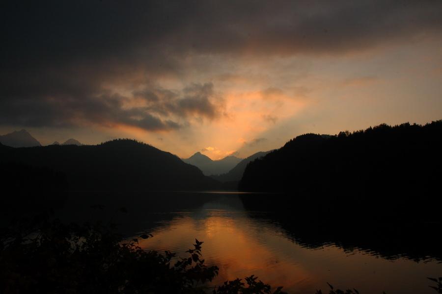 sunset schwangau alpsee