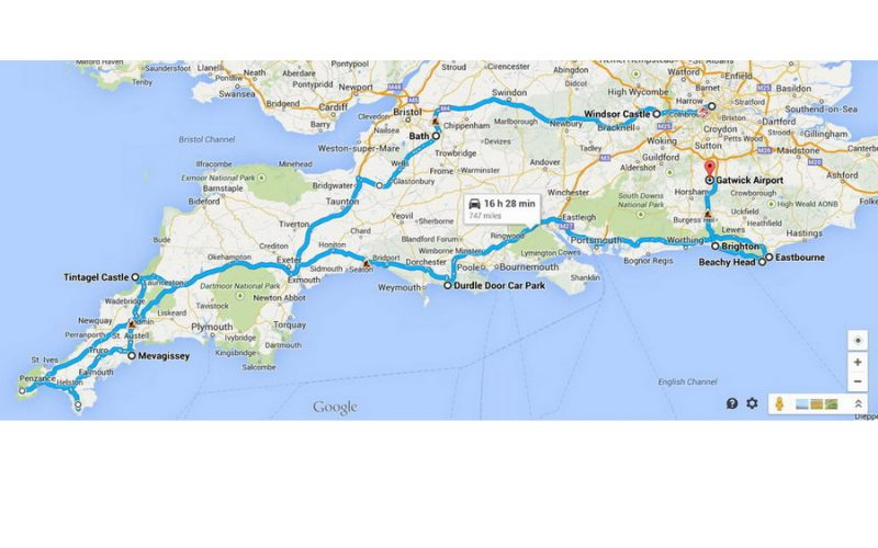 england 2014 route
