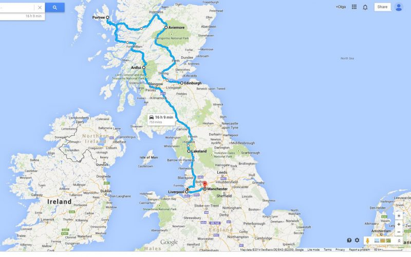 scotland england 2014 route