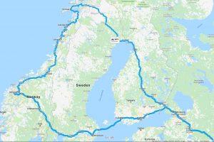 маршрут по Норвегии 2019